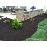 Landscape Design & Install around a patio & retaining wall ...