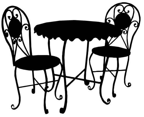 Silhouettes Of Furniture Set Black