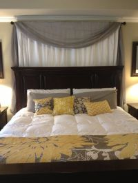 25+ best ideas about Curtain Behind Headboard on Pinterest ...