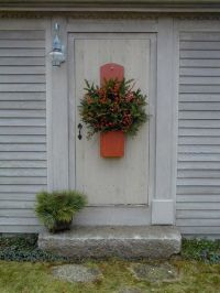 Our front door ready for the Christmas season. Anne ...