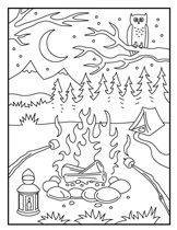 73 best Camping- Coloring Pages images on Pinterest