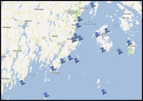 cape cod chairs best back support for chair midcoast lighthouse map - locations of all the lighthouses in region | cool maine ...