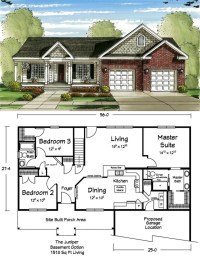 This ranch floor plan makes the most out of a small ...