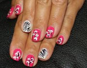 9 zebra nail art design