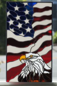 American Eagle with Flag | RV Windows in Stained Glass ...