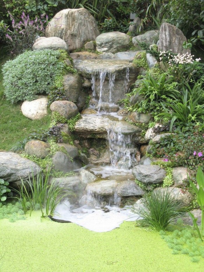 78 images about Backyard waterfalls and streams on Pinterest  Backyard ponds Backyards and