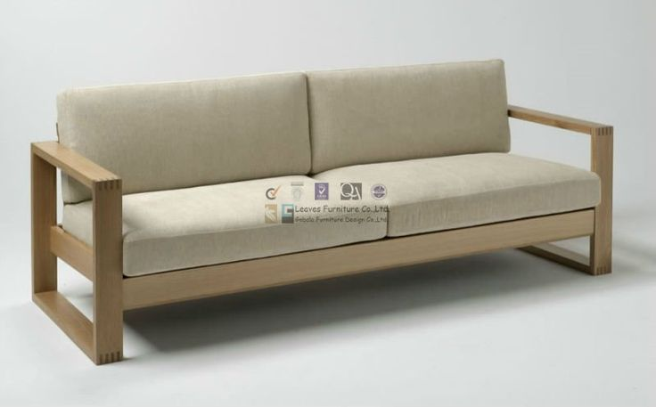 Sofa De Madera Para Sala