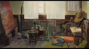 messy ghibli studio sachiko animation hill poppy painting miyazaki