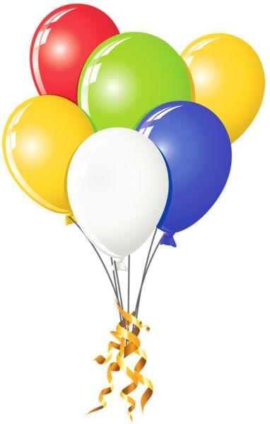 transparent balloons multi color