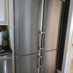 Gray Kitchen Cabinets Sink Drain Size Stainless Steel Double-wide Refrigerator! | Luxury ...