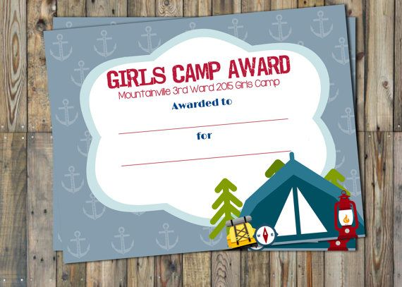 25 best ideas about Girls Camp Awards on Pinterest  Camp