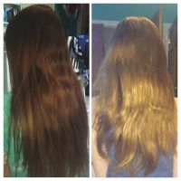 Color Oops! Hair Color Remover: before and after. My hair ...