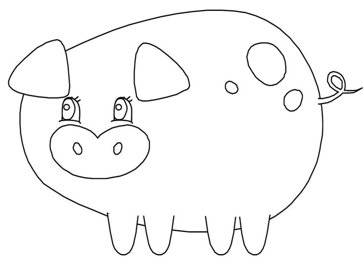 Pig Activity: We coloured pigs and made them either a