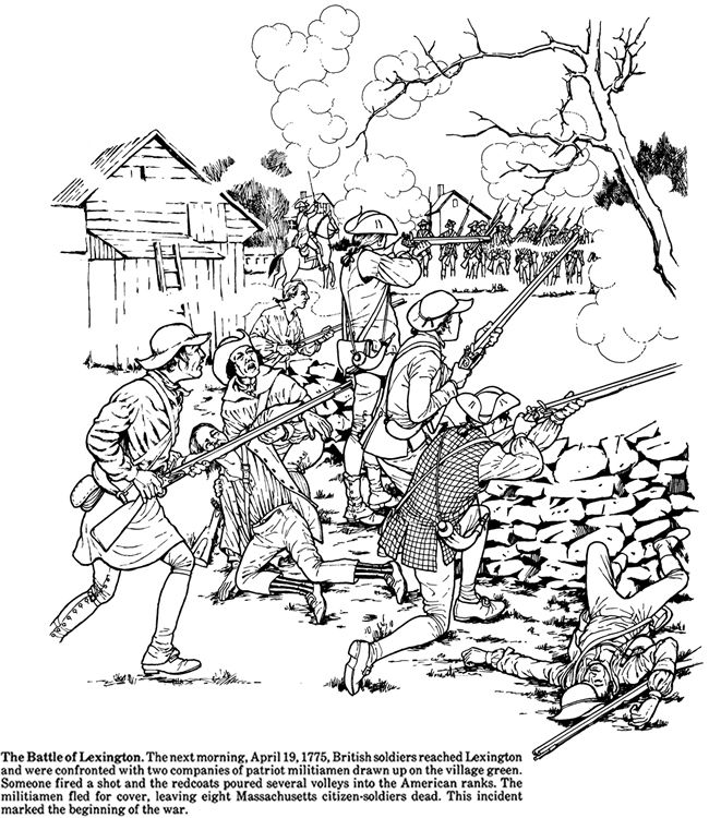 Story of the American Revolution Coloring Book Dover
