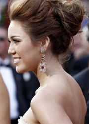 miley cyrus updo prom hairstyles