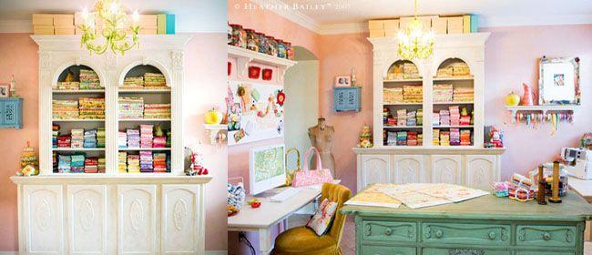 Como decorar y organizar un cuarto para costura  Ideas