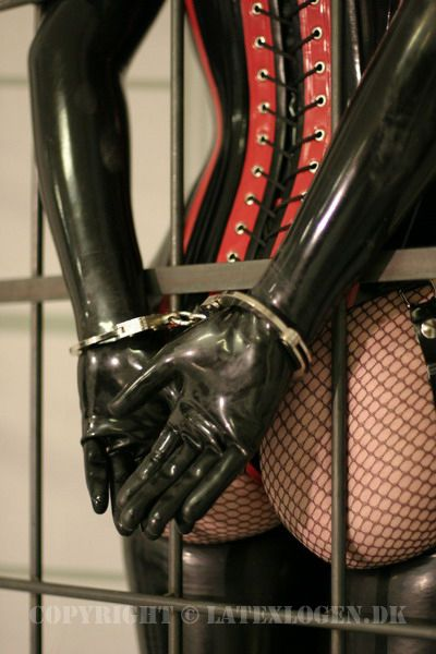 Love the fishnets and latex gloves and corset I prefer