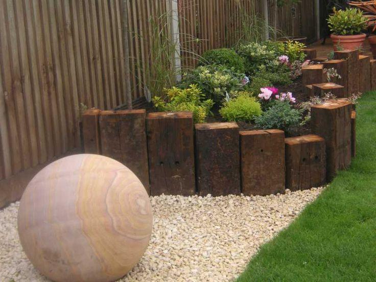 25 best ideas about Railway sleepers garden on Pinterest