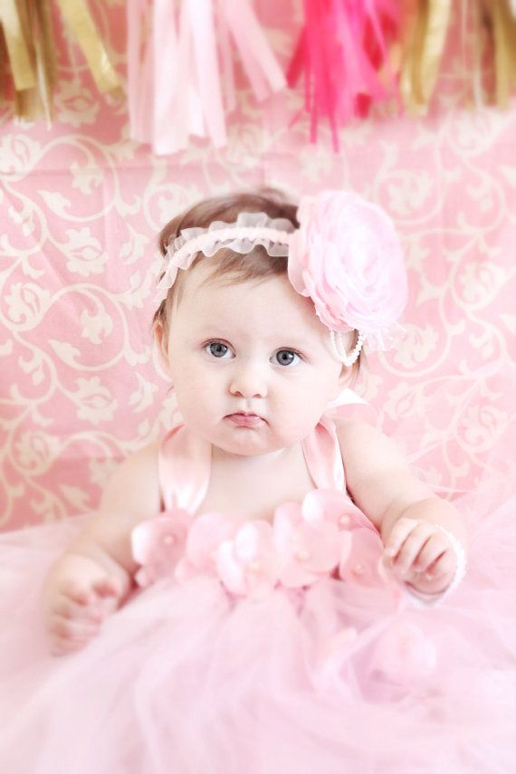 Gorgeous Beautiful Pink Petal Flower Baby Girl Tutu Dress