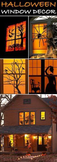 17 Best ideas about Halloween Window Decorations on ...