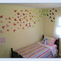 Rainbow butterfly wall!
