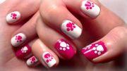 paw prints nail art