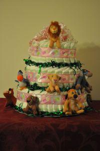 Diaper Cake - Lion King   Baby shower lion king ...