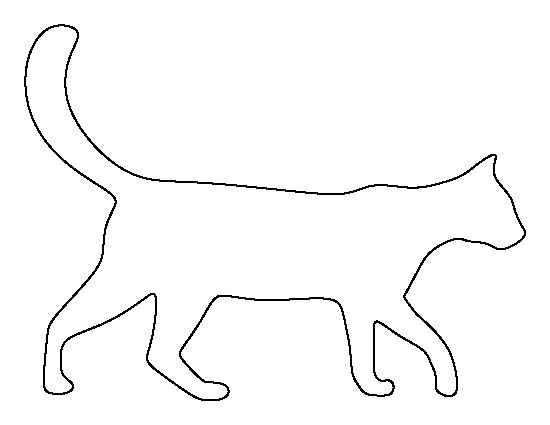 Cat pattern. Use the printable outline for crafts