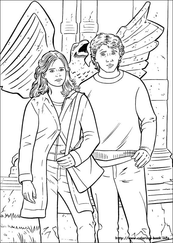 278 best images about Harry Potter Coloring Pages on