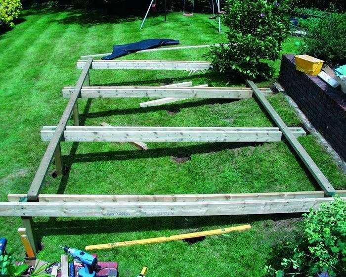 Decking Built Into A Sloping Bank Deck Pinterest Gardens