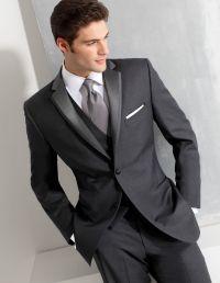 Ike Behar Dark Gray Slim Fit Tuxedo - Style #690 Black Tie ...