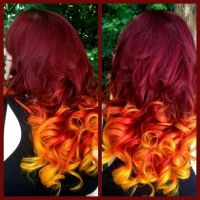 Flame on by Rogue Hair Artist Gina Brucato - Burgundy ...