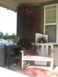 old door idea for my front porch | Americana Decor ...