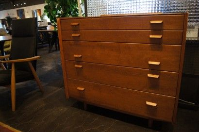 Russel Wright Furniture Five Drawer Dresser By