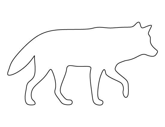 Wolf pattern. Use the printable outline for crafts