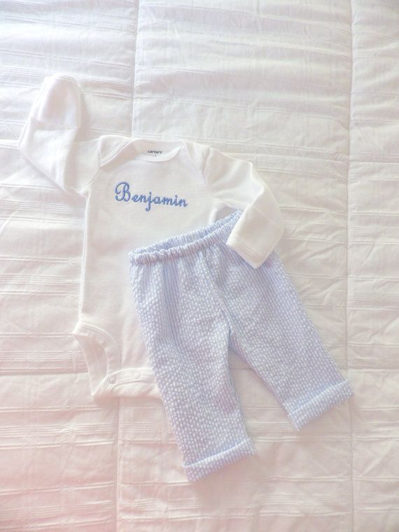 monogrammed newborn outfits