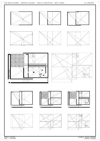 Geometric framework of Danteum plan using golden sections