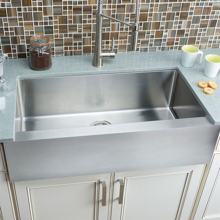17 Best Ideas About Stainless Farmhouse Sink On Pinterest Deep Kitchen Sinks Kitchen Granite