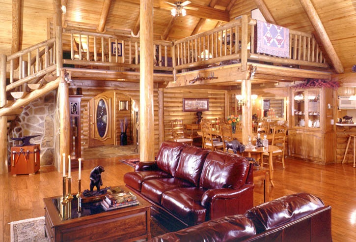 Real Log Home Texas Ranch Log Homes Inside Amp Out