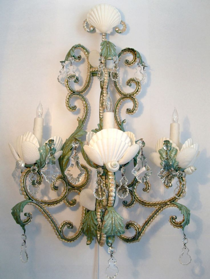1000 Images About Seashell Chandeliers And Candelabras On
