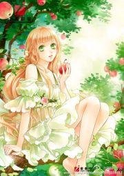 anime girl long blonde hair green