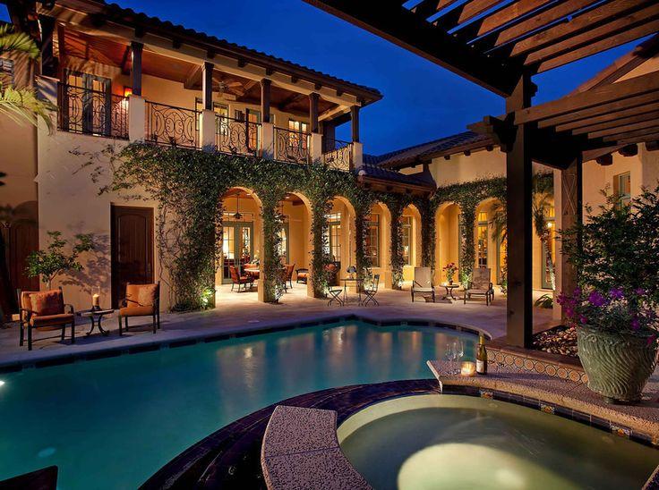 U Shape Spanish Style Home With Courtyard Pool I Think