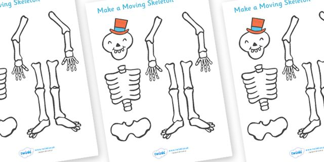 Twinkl Resources >> Funny Bones Make a Moving Skeleton (A4