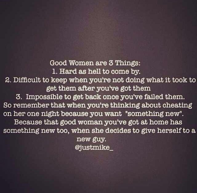 Good woman you lost a This is