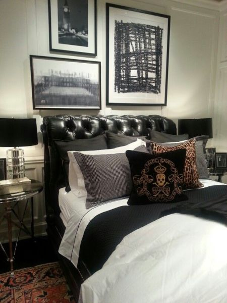 masculine bedrooms black bed 25+ best ideas about Masculine Bedrooms on Pinterest | Men's bedroom design, House interior