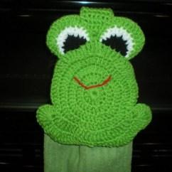 Kitchen Pot Holders Towel For Crochet Hanging - Frog Topper Green   Shelley's ...