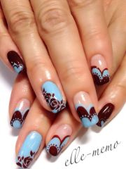 nails.wine burgundy