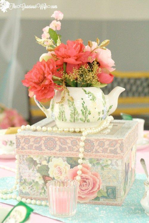 25+ best ideas about Tea party centerpieces on Pinterest
