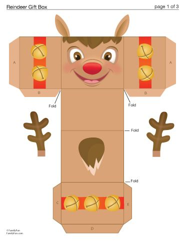 Reindeer Gift boxes and Boxes on Pinterest