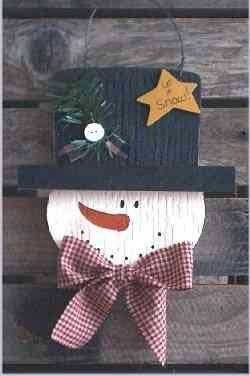 Snowman Christmas Crafts – Click image to find more DIY & Crafts Pinterest pins